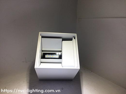 NWA288-BK/WT – Đèn LED gắn tường ngoài trời IP65 thân vuông, chiếu 2 đầu công suất 2x3W, Ra 80, độ sáng 600lm, góc chiếu điều chỉnh từ 5 độ đến 120 độ