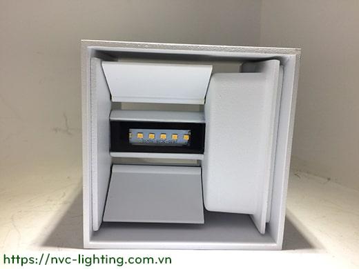 NWA288-BK/WT – Đèn LED gắn tường ngoài trời IP65 thân vuông, chiếu 2 đầu công suất 2x3W, Ra 80, độ sáng 600lm, góc chiếu điều chỉnh từ 5 độ đến 120 độNWA288-BK/WT – Đèn LED gắn tường ngoài trời IP65 thân vuông, chiếu 2 đầu công suất 2x3W, Ra 80, độ sáng 600lm, góc chiếu điều chỉnh từ 5 độ đến 120 độ