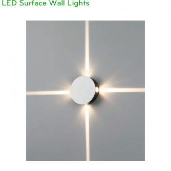 NWA158 - Đèn LED gắn tường chip Cree 4x1W, chiếu sáng 4 hướng, độ sáng 280 lumens, IP20