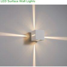 NWA300C 12W - Đèn LED gắn tường mặt vuông chiếu 4 hướng, độ sáng 1200 lumens, chip Cree cao cấp, IP65 dùng ngoài trời