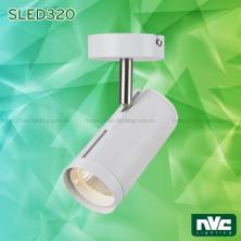 SLED320A 12W, SLED320B 18W, SLED320C 24W - Đèn rọi gắn tường LED COB liền khối, thân nhôm sơn tĩnh điện, trục xoay inox 304