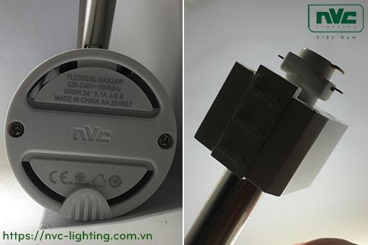 TLED320A 12W, TLED320B 18W, TLED320C 24W – Đèn rọi ray LED COB liền khối, thân nhôm sơn tĩnh điện, trục xoay inox 430