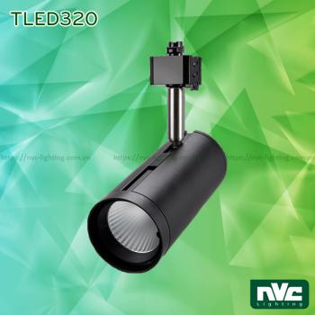 TLED320A NTLED320A 12W, TLED320B NTLED320B 18W, TLED320C NTLED320C 24W - Đèn rọi ray LED COB liền khối, thân nhôm sơn tĩnh điện, trục xoay inox 304