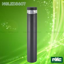 NGLED3607 9.4W - Đèn trụ nấm sân vườn IP54, thân hợp kim nhôm cán cao cấp phủ sơn tĩnh điện chống han gỉ, lens PC mờ chống chói, chip LED SMD, cao 0.8m