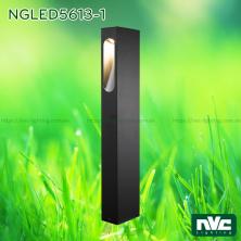 NGLED5613 9W - Đèn trụ sân vườn chip Cree COB IP54, thân hợp kim nhôm cán cao cấp phủ sơn tĩnh điện chống oxy hóa, cao 250mm hoặc 650mm