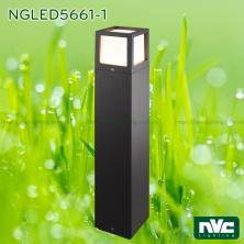 NGLED5661 16W - Đèn trụ sân vườn IP54 chip Cree, thân hợp kim nhôm cán cao cấp phủ sơn tĩnh điện chống oxy hóa, tán quang PC Opal, cao 265mm hoặc 650mm