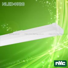 NLED492G 18W 36W - Đèn tuýp LED bán nguyệt lắp nổi hoặc treo, thân thép sơn tĩnh điện, thích hợp dùng văn phòng cao cấp