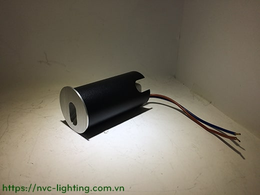 NSL001 NSL002 1W - Đèn chân cầu thang trong nhà, mặt nhôm xước dáng vuông hoặc tròn, Ra 80, độ sáng 70lm, góc chiếu 60 độ, IP20