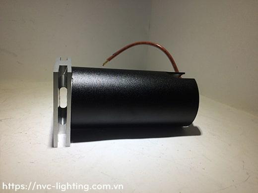 NSL003 NSL004 1W - Đèn âm bậc cầu thang trong nhà mặt vuông nhôm xước, sáng 2 bên, Ra 80, độ sáng 70lm, góc chiếu 60 độ, IP20