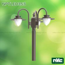 NPTLED353 24W – Đèn cột sân vườn chip Cree COB 3 bóng, cấp bảo vệ IP54, cao 2410mm, độ sáng 1.900 lumens, 110V-240V, tuổi thọ 30.000 giờ