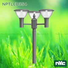 NPTLED354 24W – Đèn cột sân vườn chip Cree COB 3 bóng, cao 2466mm, quang thông 1.900 lumens, 110V-240V, tuổi thọ 30.000 giờ, cấp bảo vệ IP54