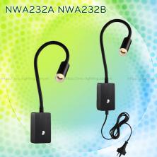 NWA232A NWA232B - Đèn đọc sách cá nhân gắn tường 3W 170lm, lắp nổi, góc chiếu 30 độ, công tắc cảm ứng chạm tắt bật, chip Cree chống cận, thân thiện với mắt