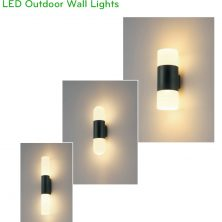 NWA291A 2x6W, NWA292A 2x6W, NWA293A 2x9W - Đèn LED gắn tường thân aluminum, Ra > 90, độ sáng 860lm/1600lm, cấp bảo vệ IP65 dùng được ngoài trời