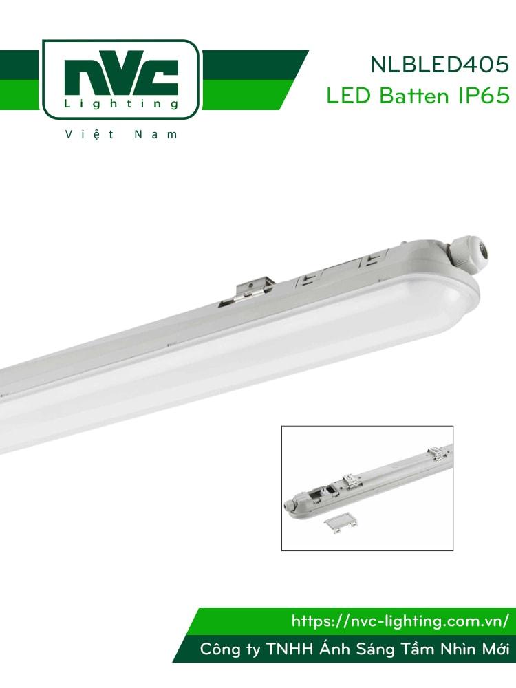 NLBLED405 21W 40W 55W - Đèn tuýp LED chống ẩm IP65, chiều dài tương ứng 60cm 120cm 150cm
