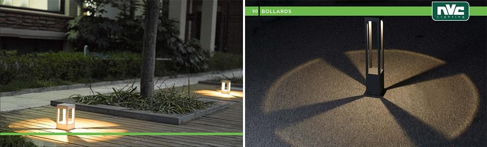 Đèn trụ sân vườn NVC Lighting IP54 kiểu độc lạ, chiếu sáng đẳng cấp