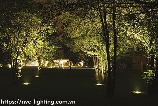 DL028 5W, DL029 9W, DL030 12W – Đèn LED âm đất thân inox 316 cao cấp, tản nhiệt bằng nhôm, điện áp 100V-240V, góc chiếu 15/24/38/60 độ, độ sáng 430lm 800lm 900lm, Ra > 90, IP67