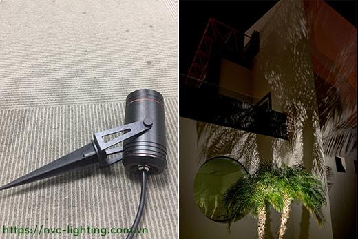 NSP184 6W, NSP185 9W, NSP186 12W – Đèn cắm cỏ rọi cây IP65, độ sáng 500lm/800lm/900lm, chip Cree, Ra > 90, AC220V-240V hoặc DC12V/24V, góc chiếu sáng 15/24/38/60 độ