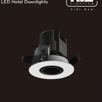 NLED8112D 3W - Đèn LED downlight cao cấp lắp âm trần, độ thật ánh sáng CRI 90, bóng ẩn chống chói, góc chiếu 15° 24° 36°, góc xoay 15°, tương thích DALI