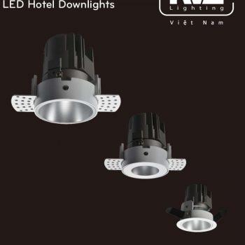 NLED8123A 8W Series - Đèn LED downlight khách sạn cao cấp lắp âm trần, độ thật màu CRI 90, 3 phiên bản mặt kính kèm bóng ẩn chống chói, góc chiếu 15° 24° 36°, tương thích DALI
