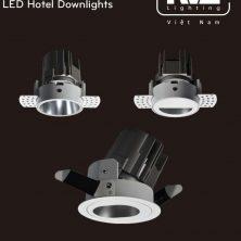 NLED8123D 8W Series - Đèn LED downlight khách sạn cao cấp 8W lắp âm trần, mặt hắt sáng dạng tròn, oval hoặc bán nguyệt, chỉ số hoàn màu CRI 90, bóng ẩn chống chói, góc chiếu 15° 24° 36°, góc xoay 30°, tương thích DALI