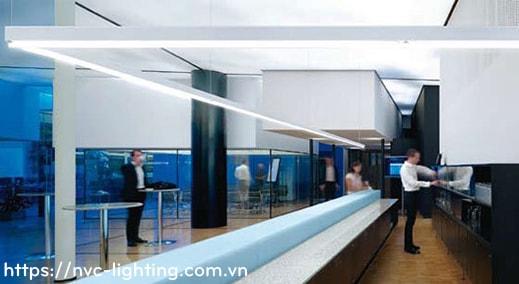 NLILED495 18W 30W – Đèn LED thanh văn phòng lắp âm, lắp treo hoặc thả trần, ghép nối
