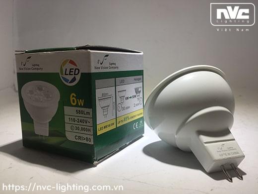 MR16I 4w 5w 6w – Bóng nón LED chân cắm G5.3, điện áp AC 220V hoặc DC 12V, vỏ polycarbonate, tản nhiệt nhôm đúc trong thân bóng