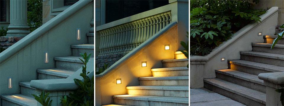 Đèn dẫn hướng NVC Lighting chiếu lối đi ngoài trời lung linh, ấn tượng