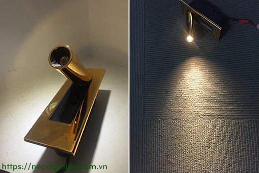 NWA321-GD/CR/BK/WT – Đèn đọc sách gắn âm đầu giường công suất 3W, Ra 80, độ sáng 120lm, góc chiếu 30 độ, IP20, công tắc tự động tắt bật trên thân đèn