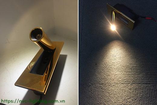NWA322-GD/CR/BK/WT – Đèn đọc sách gắn âm đầu giường công suất 3W, Ra 80, độ sáng 120lm, góc chiếu 30 độ, IP20, công tắc tự động tắt bật trên thân đèn
