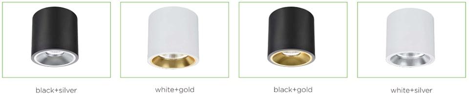 Đèn LED downlight lắp nổi nhiều ứng dụng, lắp sáng điểm nhấn nội thất