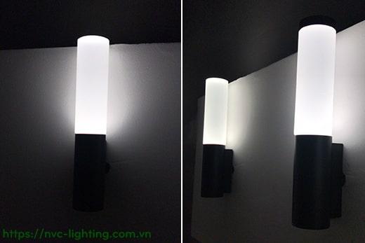 NWA210 NWA211 6W – Đèn gắn tường ngoài trời trang trí nổi bật, IP65, chip Cree COB Ra 90, quang thông 430lm, chóa đèn thủy tinh hữu cơ cao cấp mờ chống chói