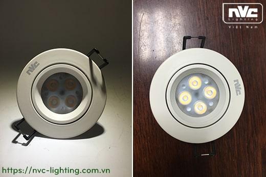 NLED1124ND 4W, NLED1126ND 6W, NLED1128 8W – Đèn spotlight âm trần LED SMD nguyên khối, vành xoay 60°, chấn lưu liền