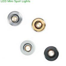 NDC001A 3W - Đèn LED mini spotlight có vành xoay, lắp tủ rượu, tủ trưng bày, cầu thang, thân nhôm đúc nguyên khối, Ra 80, sáng 120lm, 20 độ