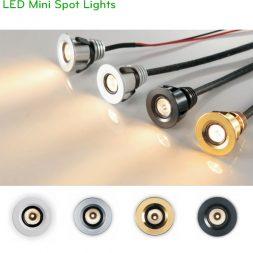 NDC880A 1W, NDC005A 3W - Đèn LED âm trần mini spotlight, lắp tủ rượu, tủ trưng bày, cầu thang, thân nhôm đúc nguyên khối, ánh sáng đẹp Ra 80