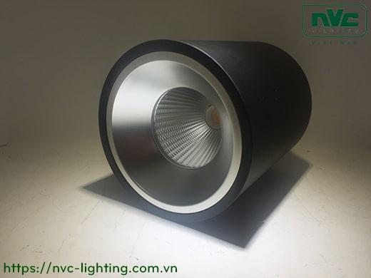 NDLLED928* – Đèn LED downlight lắp nổi COB nguyên khối, công suất 9W 15W 24W 35W, mặt kính lõm, chóa phản quang
