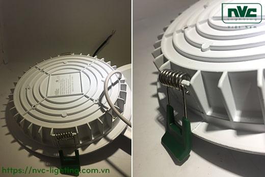 NLED9403E NLED9404E NLED9406E NLED9408E – Đèn LED downlight âm trần dạng panel mỏng, mặt kính mờ chống chói, chấn lưu rời, IP44 và IP65