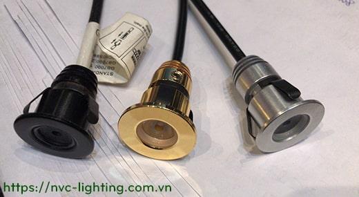 NDC880A 1w - Đèn âm trần mini spotlight, lắp tủ rượu, tủ trưng bày, cầu thang. Nhôm đúc nguyên khối, Ra>80, 70lm, 30 độ