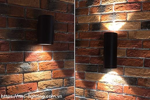 NWA217 COB 12W, NWA218 COB 2x12W - Đèn LED gắn tường ngoài trời thân tròn, chất lượng ánh sáng Ra > 90, độ sáng 900lm & 1800lm, IP65