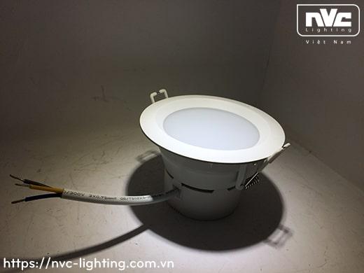 NLED931* 4W 6W 8W 10W 12W - Đèn downlight âm trần liền khối LED SMD, vành giật cấp chống chói