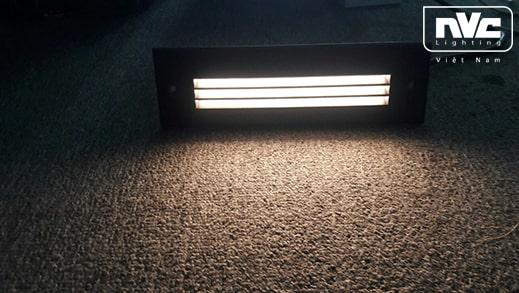 NWLED4521 NWLED4522 - Đèn LED âm bậc cầu thang 5W-7.5W IP65, hình chữ nhật, thân hợp kim nhôm đúc cao cấp, vành inox 316 không han gỉ, vỏ hộp ABS cao cấp chịu áp lực cao khi thi công âm tường, Ra > 80