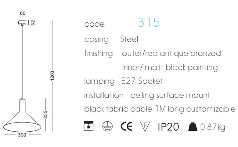 NPL315 - Chóa đèn thả trần cao cấp