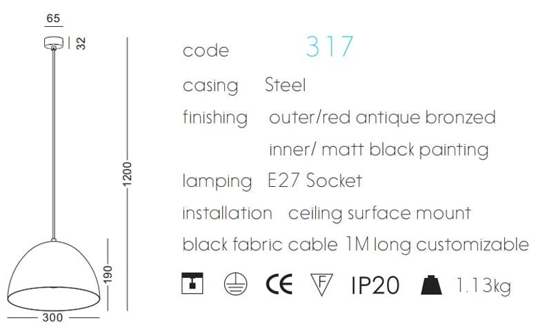 NPL317 - Chóa đèn thả trần cao cấp