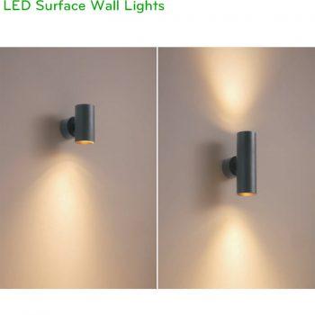 NDS031 NDS032 - Đèn LED gắn tường trong nhà chiếu sáng 2 đầu