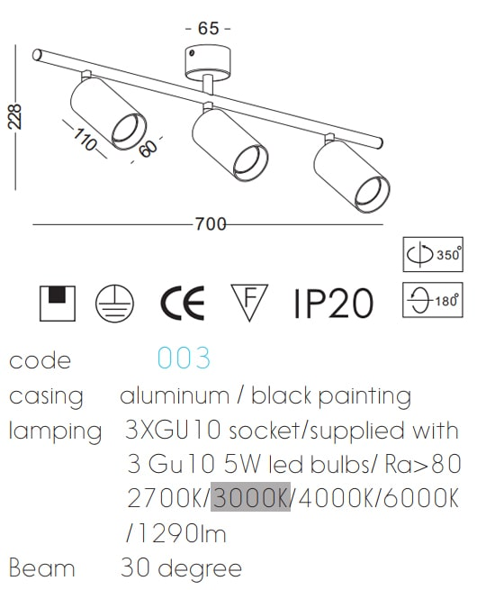 NDS003 - Đèn LED spotlight