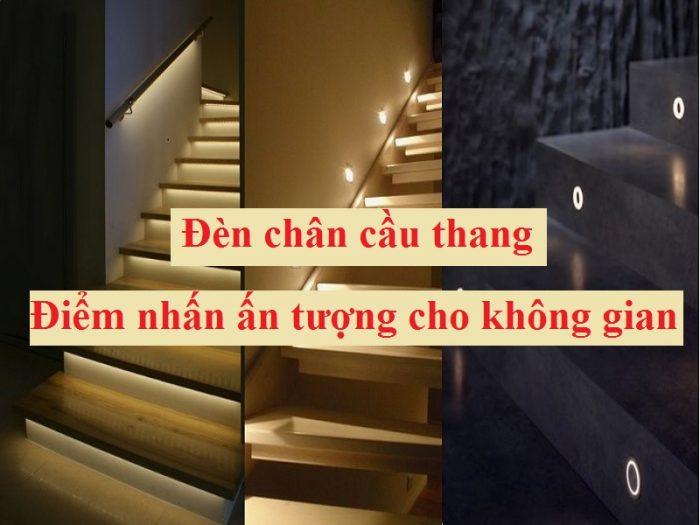 Đèn chân cầu thang mang lại vẻ đẹp ấn tượng