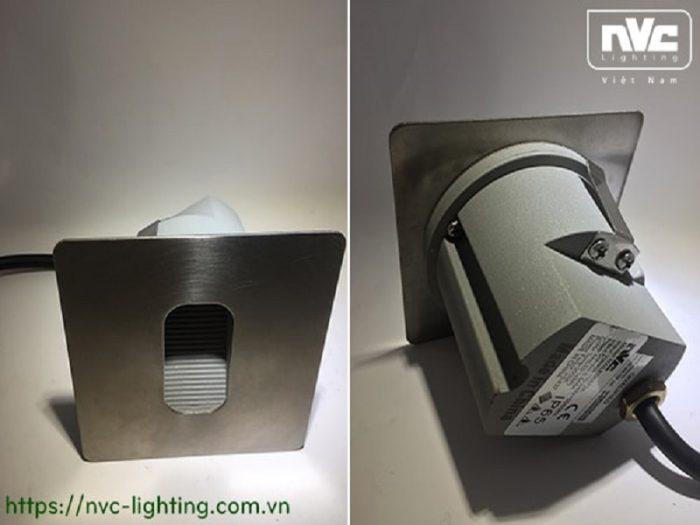 Đèn LED âm bậc cầu thang có thiết kế thông minh.