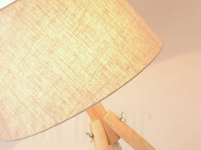 Đèn cây 3 chân bằng gỗ NVS-4015 kiểu dáng hiện đại, chao vải trang trí